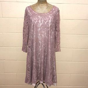 puella dusty rose/mauve lace dress